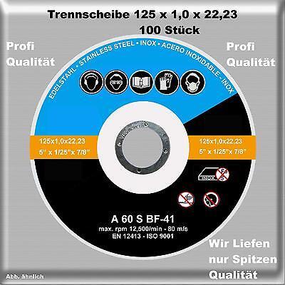 100 Stück  Trennscheiben Flexscheiben Inox 125 mm x 1 mm Edelstahl Trennscheibe