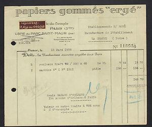 PARIS-III-USINE-du-PARC-ST-MAUR-de-PAPIERS-Gommes-034-ERGE-034-en-1936