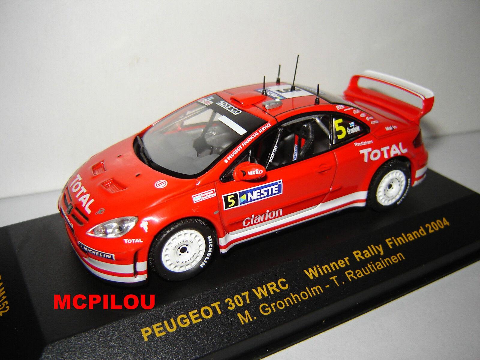 IXO RAM152 PEUGEOT 307 WRC N°5 WINNER RALLY RALLY RALLY FINLAND 2004 au 1 43° e750f0