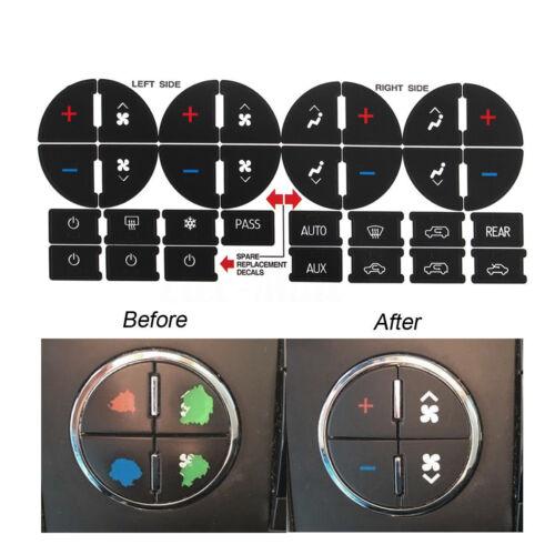 1Pack AC Dash Button Sticker Repair For GM Tahoe Suburban Avalanche Silverado