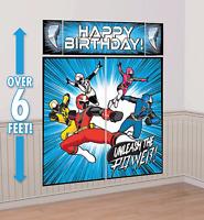 Power Rangers Ninja Steel Scene Setter Wall Decorating Kit Birthday Party Supply
