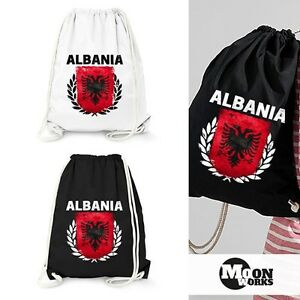 Turnbeutel-Fussball-EM-WM-Albanien-Flagge-Vintage-Albania-Flag-Gymbag-Moonworks