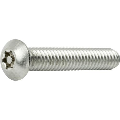 "5//16-18 x 3//4/"" Torx Security Machine Screws Button Head Stainless Steel Qty 10"