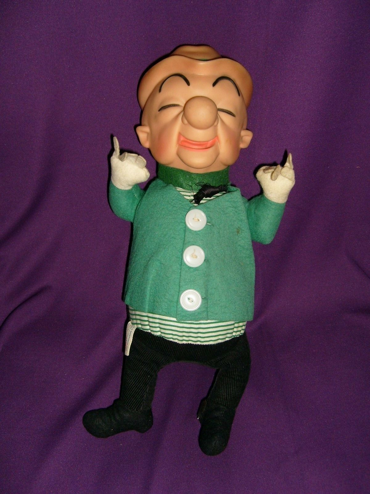UPA 15 inch Mr. Magoo Figure (Ideal Toys, 1962) Plastic Head & Plush Body