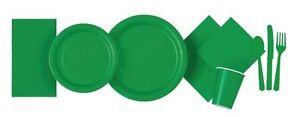 Vert-Emeraude-Vaisselle-Plaques-Tasses-Serviette-Nappes-Sacs-Ballons