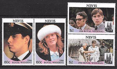 Streng Nevis 393-96 ** Royal Wedding SchnäPpchenverkauf Zum Jahresende Karibik