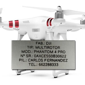 Placa-Identificativa-para-Drone-Chapa-Grabada-Identifica-Dron-DJI-Phantom-Parrot