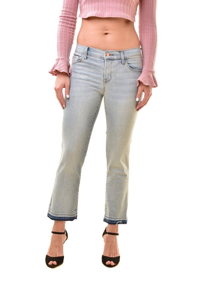 J BRAND Womens Selena Bootcut Skinny Crop Jeans bluee Size 26 RRP  BCF811