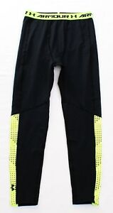 140da54835 Image is loading Under-Armour-Coldgear-Black-Armour-Up-Leggings-Youth-