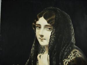 junges-Frau-die-Schal-Lith-XIX-60cm-Bulla-Freres-amp-Jouy-Neue-Studien-variiert