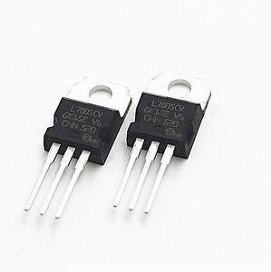 5pcs ic l7805cv l7805 7805 to 220 voltage regulator 5v st new ebayimage is loading 5pcs ic l7805cv l7805 7805 to 220 voltage