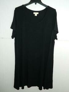 Style-amp-co-Women-039-s-Plus-Black-Short-Sleeve-Dress-NWT-Size-3X-MSRP-59-A6