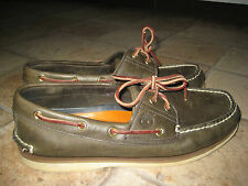 Mens TIMBERLAND Deck Boat Brown Leather Shoes Size 8.5W / UK 8 GREAT