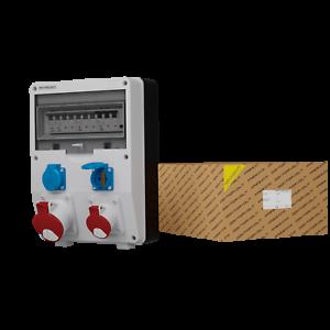 Distribution Board Power Box DV-S / Fi 32A 16A 2x230V IP54 Building Site