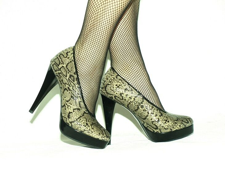 PYTHON PATENT LEATHER chaussures chaussures chaussures PUMPS Taille 5-16 HEELS-5,5'- PRODUCER POLAND 7ea1f4