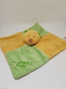 Doudou-Plat-ours-vert-jaune-note-de-musique-BENGY