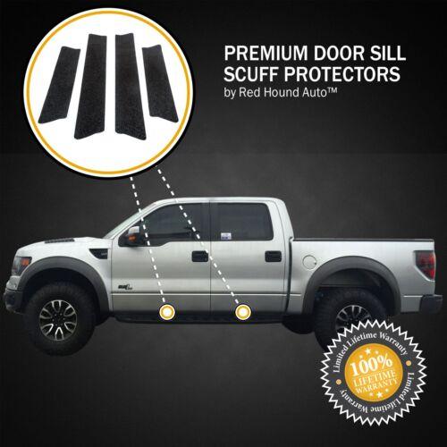 2009-2014 fits F-150 Crew Ford Door Sill Scuff Plate Protectors 4pc Kit