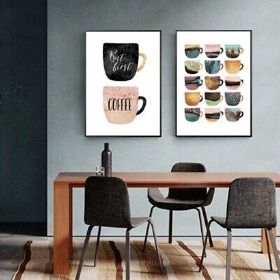 Colorful Cups Modern Kitchen Wall Decor 2 Piece Wall Art Canvas Print  (UNFRAMED) | eBay