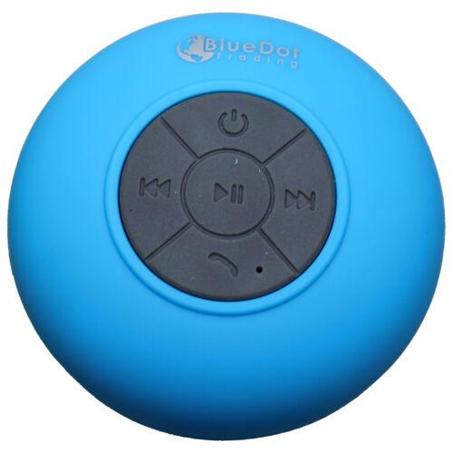 Blue Waterproof Bluetooth 3.0+EDR Works w//Smart Ready iPhone 7 Speaker Shower