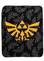 The Legend Of Zelda Triforce Logos Super Plush Throw 48x60 Blanket Gift