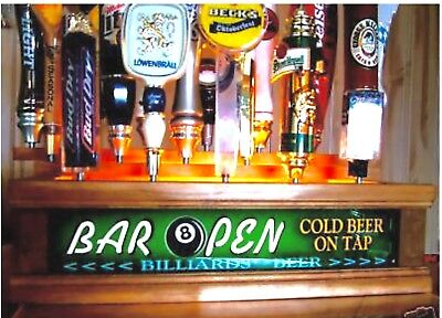 REMOTE Control 18 BEER TAP HANDLE DISPLAY LED Personalized tavern bar sig