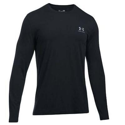Under Armour Mens UA Chest Logo Long-Sleeve Tee 1289909-001 Black