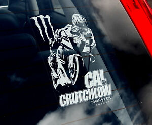 Cal-Crutchlow-35-Coche-Pegatina-Ventana-Motocicleta-Superbike-Yamaha-V01