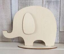 NUOVO taglio laser legno non associate Elefante 20cm Tall fai da te Baby Regalo