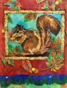Woodland Squrrel Garden Flag by Toland #1231