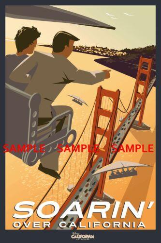 "Poster 8.5/"" x 11/"" Disney Soarin/' Over California"