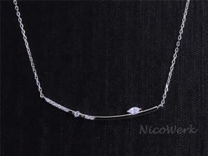 Silberkette-mit-Anhaenger-Stange-Schlicht-Mit-stein-Zirkonia-Halskette-Damen-925