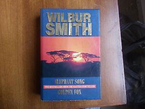 wilbur-smith-2-in-1-elephant-song-golden-fox-Hc-dj-1-st-edition