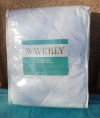 Waverly Mattress Pad White 250-Thread Count Queen Size