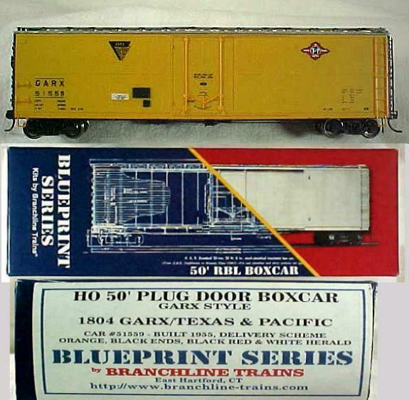 HO - BRANCHLINE 50' TEXAS PACIFIC (T&P) PLUG DOOR BOX Road #51559 from kit .. E
