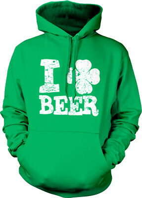Love Irish Shamrock Green Adult Crew Neck Sweatshirt