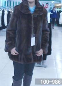 Large Sz Coat Women Mink Brown Brand New Jacket Fur pZ8nRxq