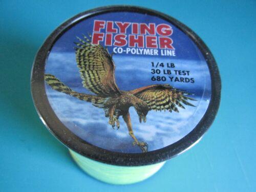 TEST 1//4 POUND SPOOL 680 YARD SPOOL COPOLYMER FISHING LINE 30 LB