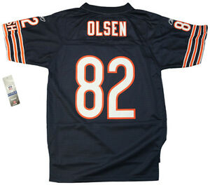 Details about Youth sized NFL Chicago Bears Greg Olsen #82 Navy Blue Throwback Football Jersey