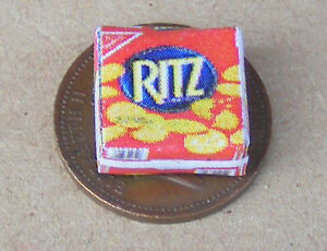 1 12 scale empty red ritz cheese biscuit packet dolls house
