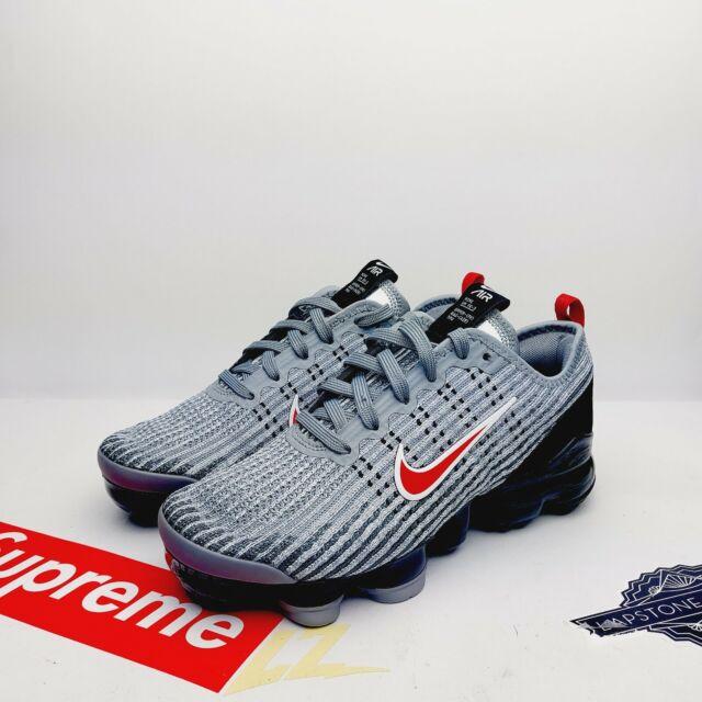 Nike Air Vapormax Flyknit 3 GS Grey University Red Size 5Y (BQ5238-006)