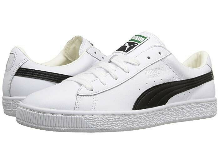 PUMA BASKET CLASSIC LFS WHITE BLACK MEN SHOES 354367-22 size 9.5 US