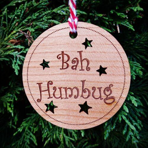 Bah humbug noël tree décorationscrooge noël babiole drôle cadeau