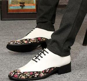 2 Style Men's Pointy Toe British Floral