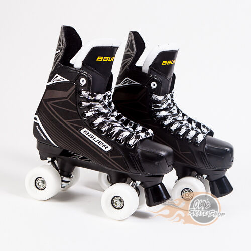 Bauer Quad Roller Skate Supreme S140 Playmaker Conversion Street Wheels