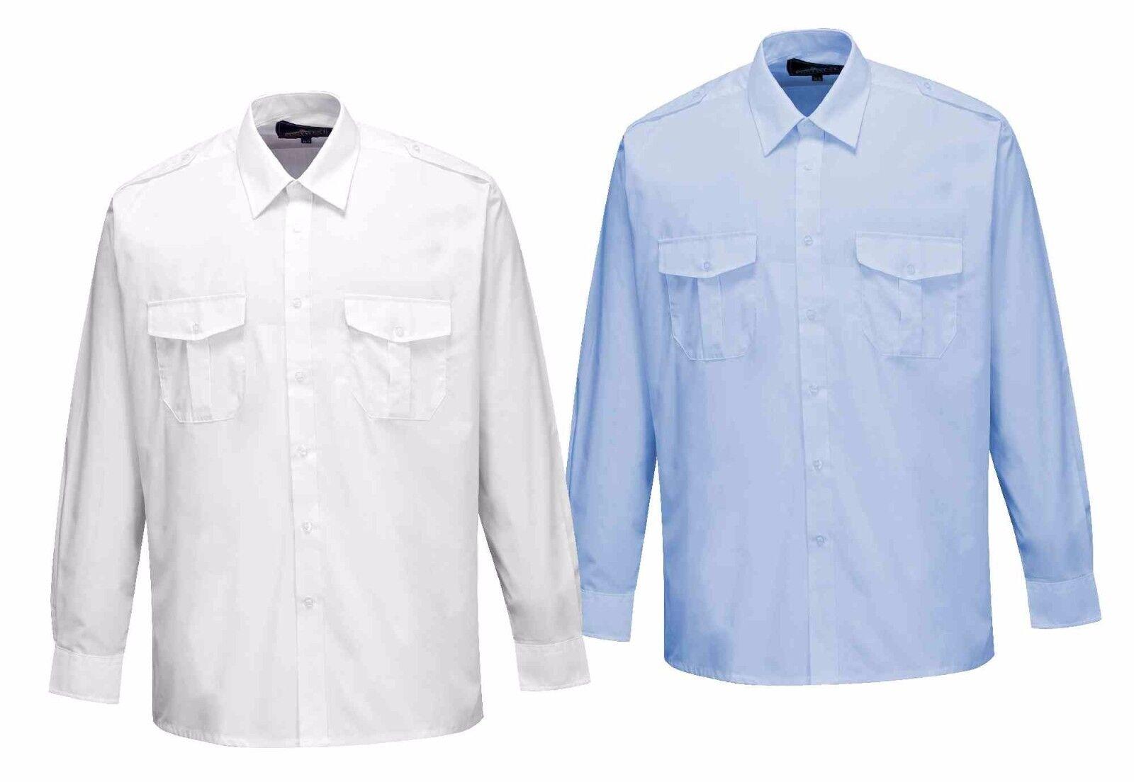 Portwest S102 Men Men Men Pilot Shirt Long Sleeve Epaulette Polycotton Uniforms Workwear | Neue Produkte im Jahr 2019  | Ausgezeichneter Wert  557a23