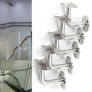 10pcs Bannister Support Stair Rail Bracket Balustrade Fixing Base Wall Mounted