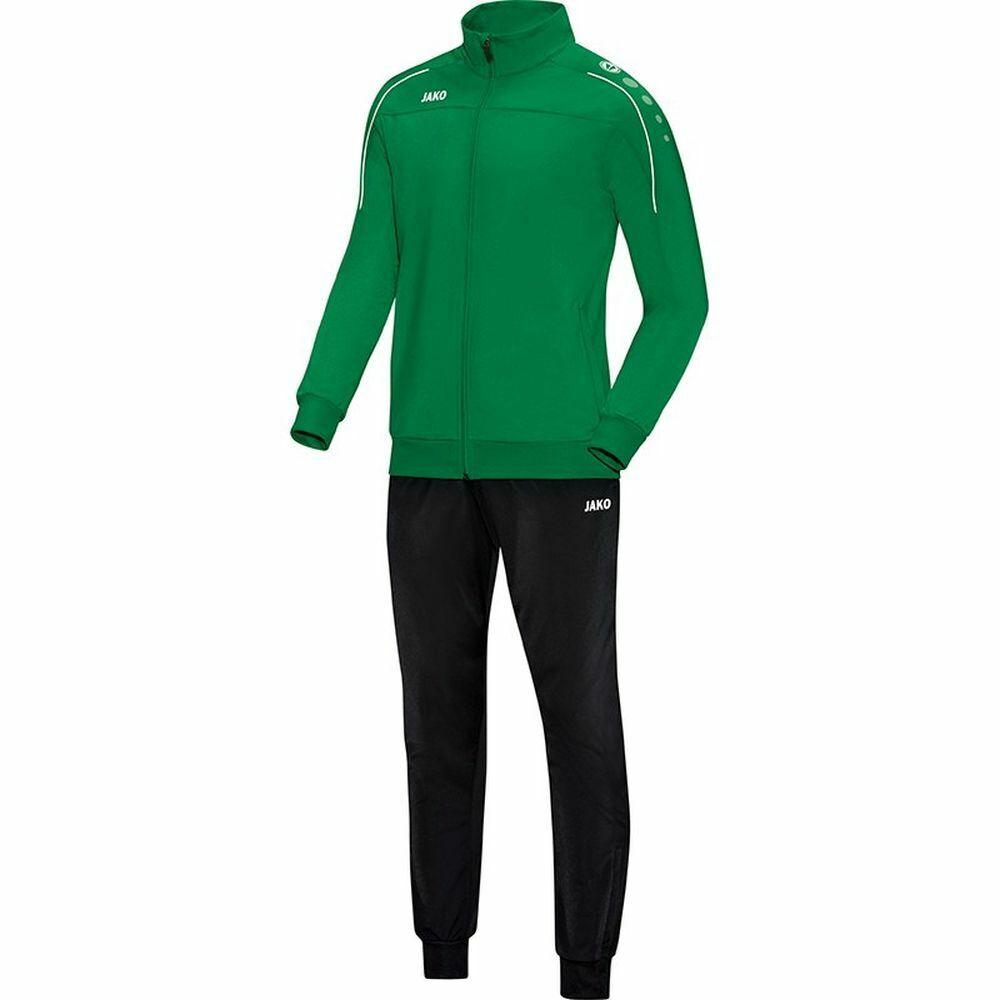 Jako CALCIO TUTA POLIESTERE Classico Bambini Tuta Sportiva Giacca Pantaloni verde