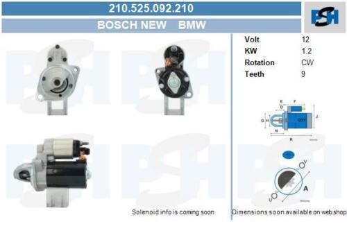 Bosch Anlasser für Startanlage 210.525.092.210 null BMW null BMW