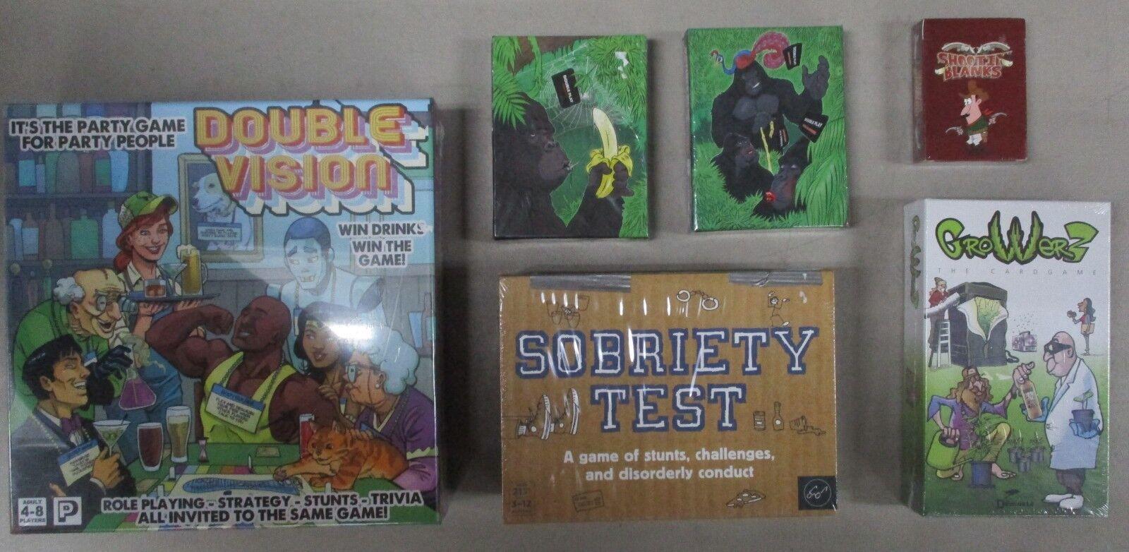 Lot de 6 adultes à thème jeux Vision Double Jouer la sobriété Test tir Blanks