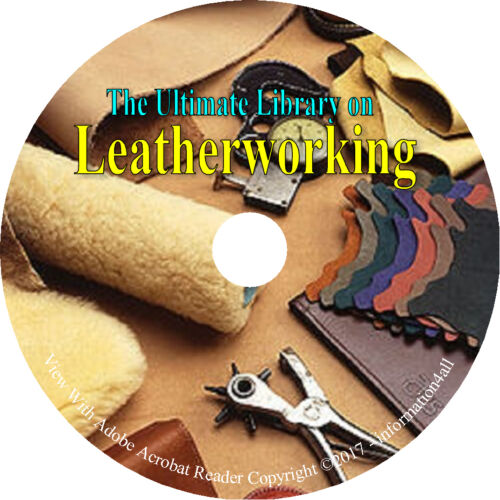 Ultimate Library on Leatherworking How to Leather Work Craft 13 Books on CD